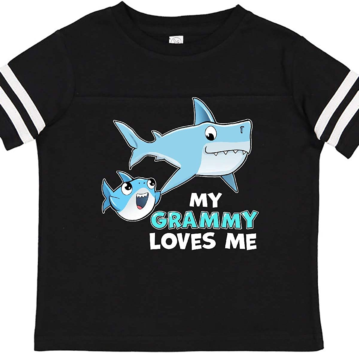 inktastic My Grammy Loves Me with Cute Sharks Toddler T-Shirt