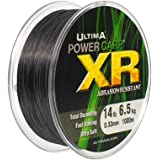 ULTIMA 1000m Bulk Spool of POWER CARP XR Abrasion Resistant, Fast Sinking, SILT Monofilament Fishing Line - Total Duralbility & Ultra Soft - 12lb, 14lb, 16lb & 18lb