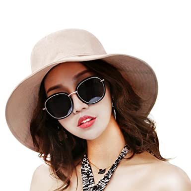 b05fb79e YFZYT Ladies Outdoor Holiday Leisure Hat, Women Floppy Sunscreen Beach Hat  Large Brim Sun Hats