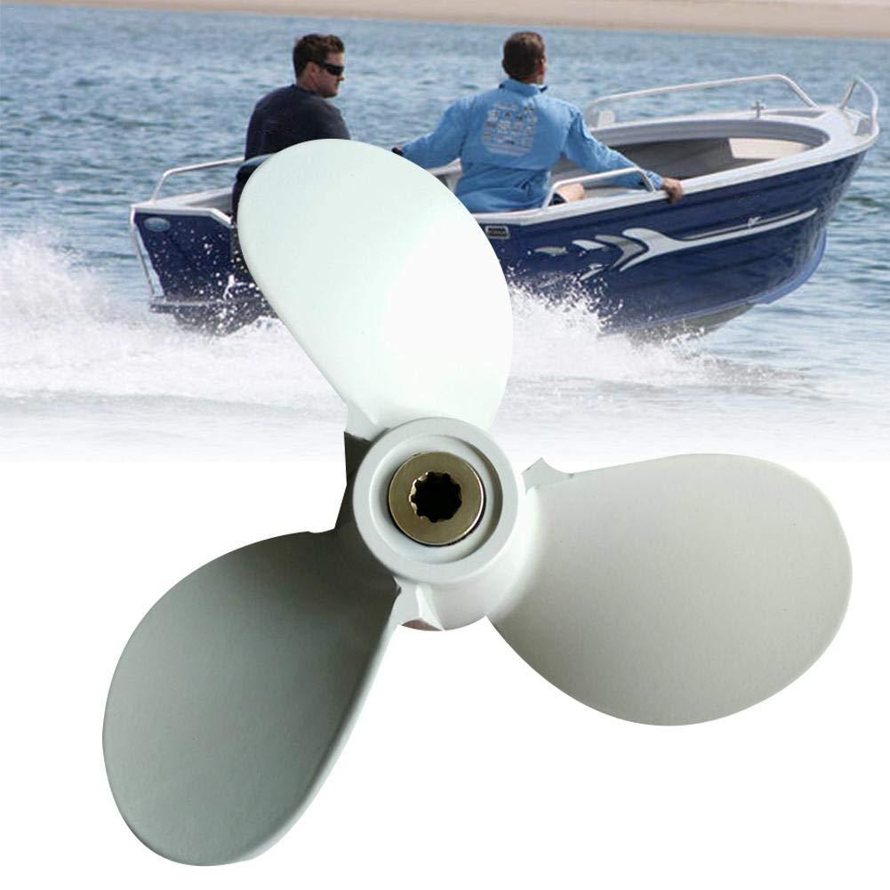 winnerruby H/élices para Motores de Barcos 2.5-5HP Peque/ña H/élice Marina de Aleaci/ón de Aluminio de Tres Hojas para Motor Fuera de Borda Yamaha
