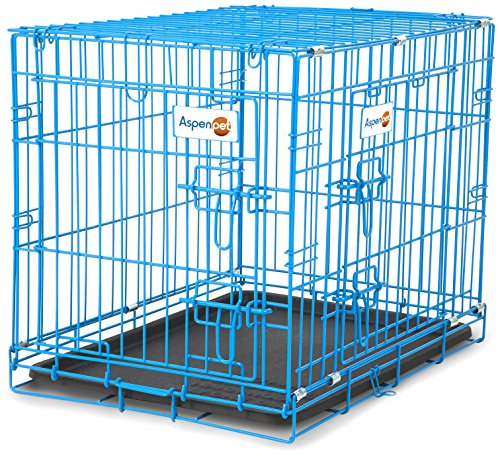 "Petmate Aspen Pet Puppy 2-Door Training Retreat Crate, 24"", Blue"