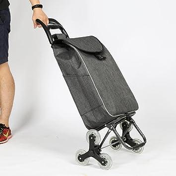 6 ruedas carrito de gran capacidad de la compra plegable ligero carrito de la compra subir escaleras carro, 6: Amazon.es: Deportes y aire libre