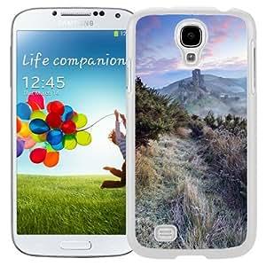 Beautiful Unique Designed Samsung Galaxy S4 I9500 i337 M919 i545 r970 l720 Phone Case With Hillside Road Vegetation_White Phone Case