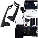 Xprit 2007 - 2017 Jeep Wrangler JK 50 Inch LED Work Light bar Steel Metal Upper Windshield Mounting Brackets For Sports, Sahara, Freedom & Rubicon