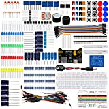 Keywish Electronics Basic Starter Kit w/ Breadboard,Jumper wires,Color Led,Resistors,Capacitor,Buzzer for Arduino UNO R3 Mega2560 Mega328 Nano