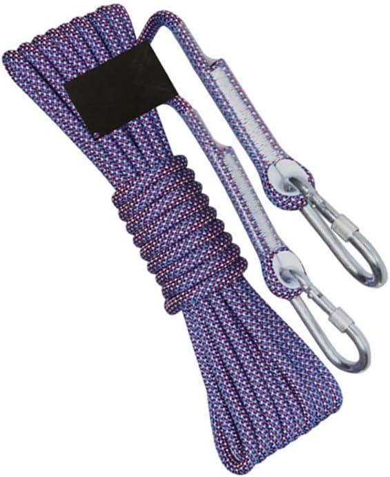LIINA ロープ 10.5mmの下り坂ロープのライフライン、高い結び目耐久性に耐える赤い負荷との青低い柔らかさおよび膨満は2500kgに耐えることができます (Size : 100m)  100m