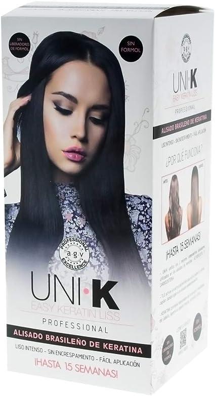UNI.K Keratin Liss By AGV Kit - Pack Alisado Brasileño con Keratina (Queratina) Profesional sin Formol
