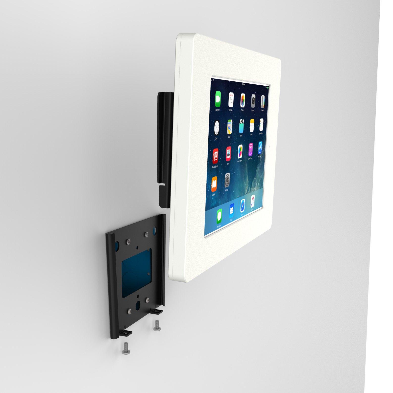 iPad (5th Gen) 9.7/Pro, Air 1/2 White Home Button Covered Fixed Slim VESA Wall Mount [Bundle] by VidaBox Kiosks (Image #9)