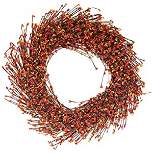 The Wreath Depot Claremont Fall Pip Berry Wreath, 22 Inches 82