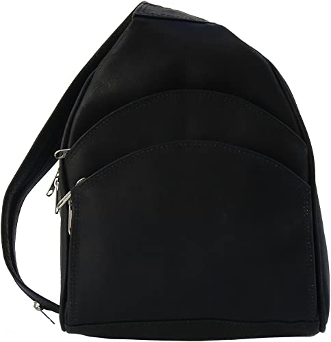 Piel Leather Backpack Sling, Black, One Size
