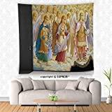 VROSELV custom tapestry Fresco from Saint Michaels Cathedral in Kiev Ukraine - Religious Christian Wall Art - Herald Angels Catholic - Wall Mural Removable Sticker Home Decor
