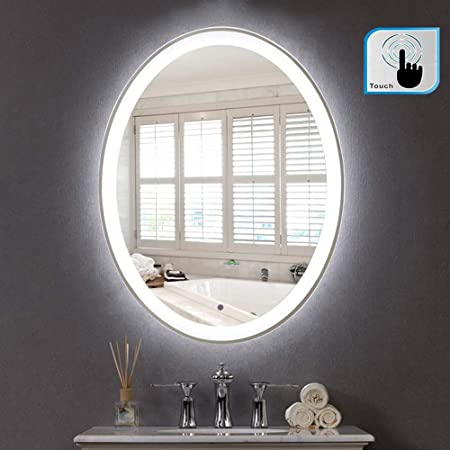 Doublewhale 500 X 700mm Led Lights Illuminated Bathroom Mirror Oval