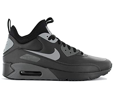 Nike - Air Max 90 Ultra Mid Win - 924458002 - Couleur: Noir-Gris