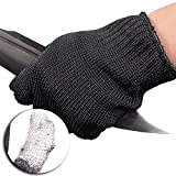 JSHANMEI One Pair of Gloves Black Kitchen Accessories Fishing Cut Resistant Working Gloves Self-Protection Food Grade Level 5 Protection Gloves for Home & Kitchen Work Safety, Hands Protector Cut Proof Gloves