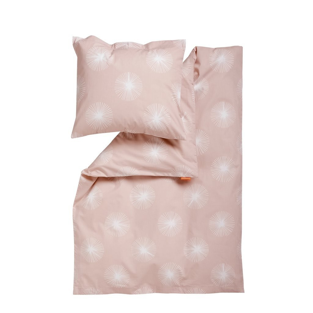 Leander Baby-Bettwäsche aus Baumwolle Flora (70x100 / 40x45) in rosa/Soft Pink
