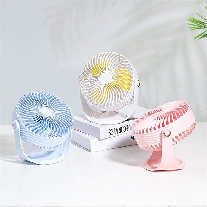 19/×11/×20 cm, Blue Table Fan Cooling Electric Fan Summer Portable Fan Mini Standing Fan 2000Mah Battery Capacity 3-Speed Wind Adjustable Fan Air Fan Weisun