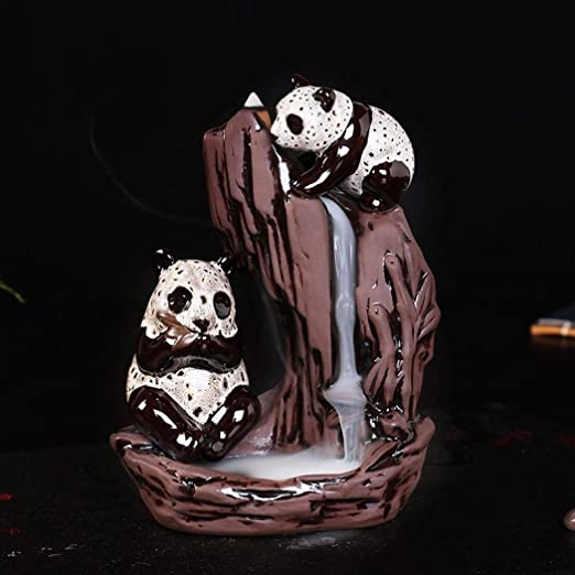 Handmade Ceramic Incense Holder Backflow Incense Burner Figurine Stick Incense Cone Holders Home Decor Gift Decorations Statue Ornaments with 10 PCS Incense Cones Beauty Women