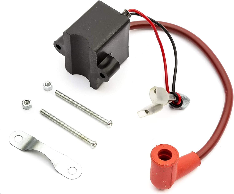 CDI Ignition Coil HT Lead Spark Plug Cap 100cc Motorised Petrol Bicycle Engine