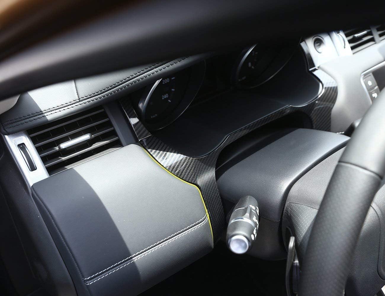 /2017 interno in fibra di carbonio Style ABS adesivo anteriore telaio cruscotto Edge cover Trim for Evoque 2012/ auto-broy guida a sinistra