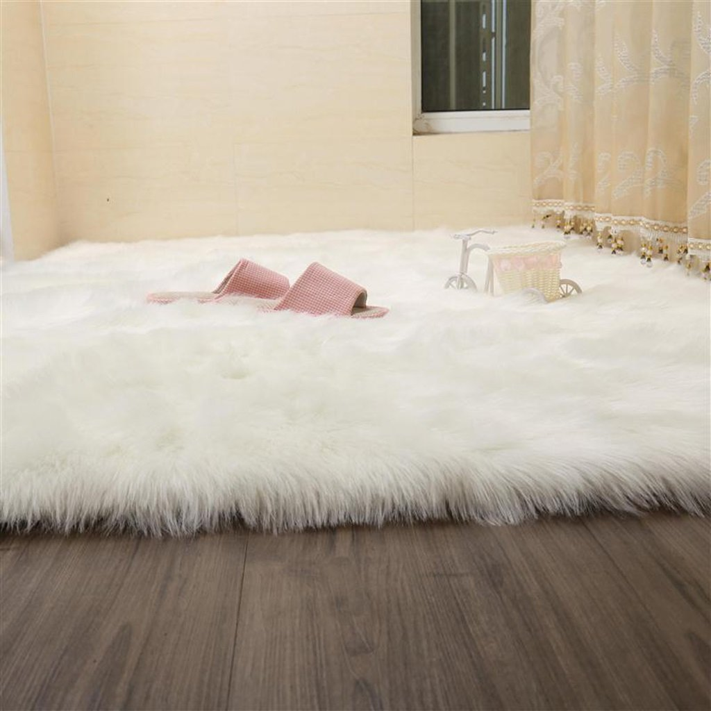 Faux Rug Soft Fluffy Rug Shaggy Rugs Faux Sheepskin Rugs Floor Carpet For Bedrooms Living Room Kids Rooms Decor ( Color : White , Size : 70200cm )