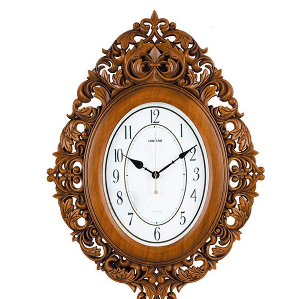 掛け時計、ウォールクロックリビングルームミュートウォールクロックの水晶時計の創造的な近代的な人格の装飾的な壁時計は、大きな   B07QT2GDNJ