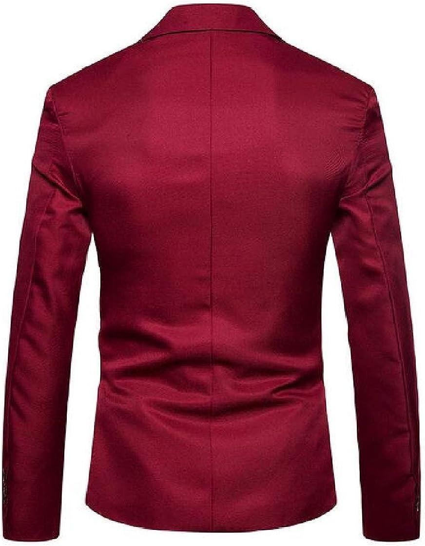 Etecredpow Mens One Button Workwear Regular Fit Sport Coat Blazer Suit Jacket