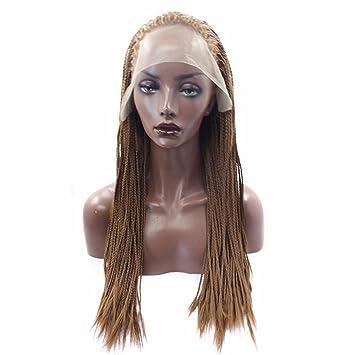 Wiglala Perücke Frauen Farbe Hand Zopf Spitze Lange Haare Hohe