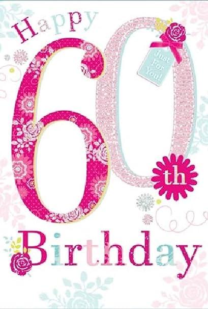 Tarjeta de felicitación de cumpleaños para ella (14 x 20 cm ...