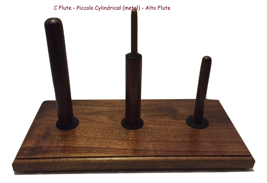 Triple Flute Stand Solid Walnut (C Flute-Alto Flute-Bass Flute) Heritage Music Products TF-1