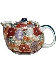 Kutani Yaki(ware) Japanese Teapot Gold Flower (with tea strainer)