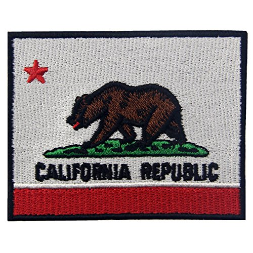 EmbTao Embroidered California State Flag Iron On Sew On Patch CA Emblem (Flag Patches Sew On compare prices)