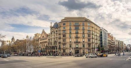 Arquitectura De La Calle Vista De Barcelona, España 3D 1500 Piezas Adulto Rompecabezas De Madera Rompecabezas Para Niños Juguetes Educativos Regalo Diy Desmontable: Amazon.es: Hogar