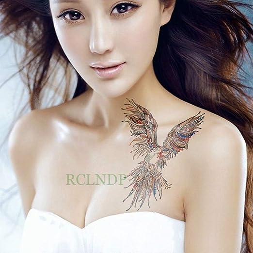 Handaxian 3pcs Etiqueta engomada del Tatuaje Impermeable 3pcs alas ...