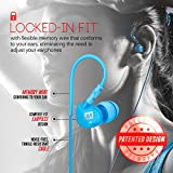 MEE audio Sport-Fi M6 Noise Isolating In-Ear Headphones with Memory Wire (Teal)