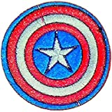 CAPTAIN AMERICA Shield Iron On Embroidered Patch Applique 3 by patchboy