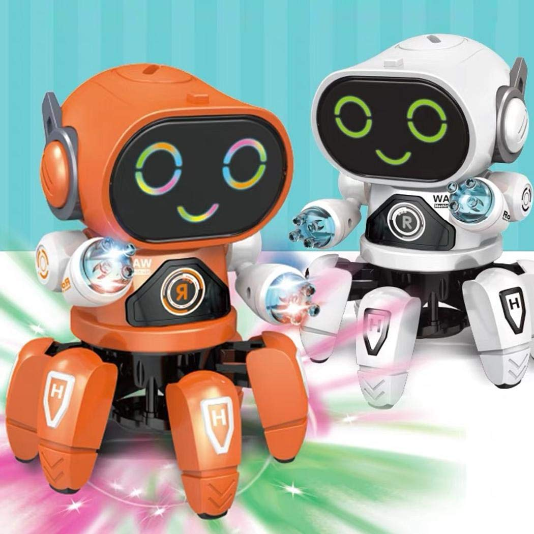 Detailorpin Children Dancing Robot 10-Color Light Music Six-Claw Fish Electronic Toy Gift by Detailorpin (Image #3)