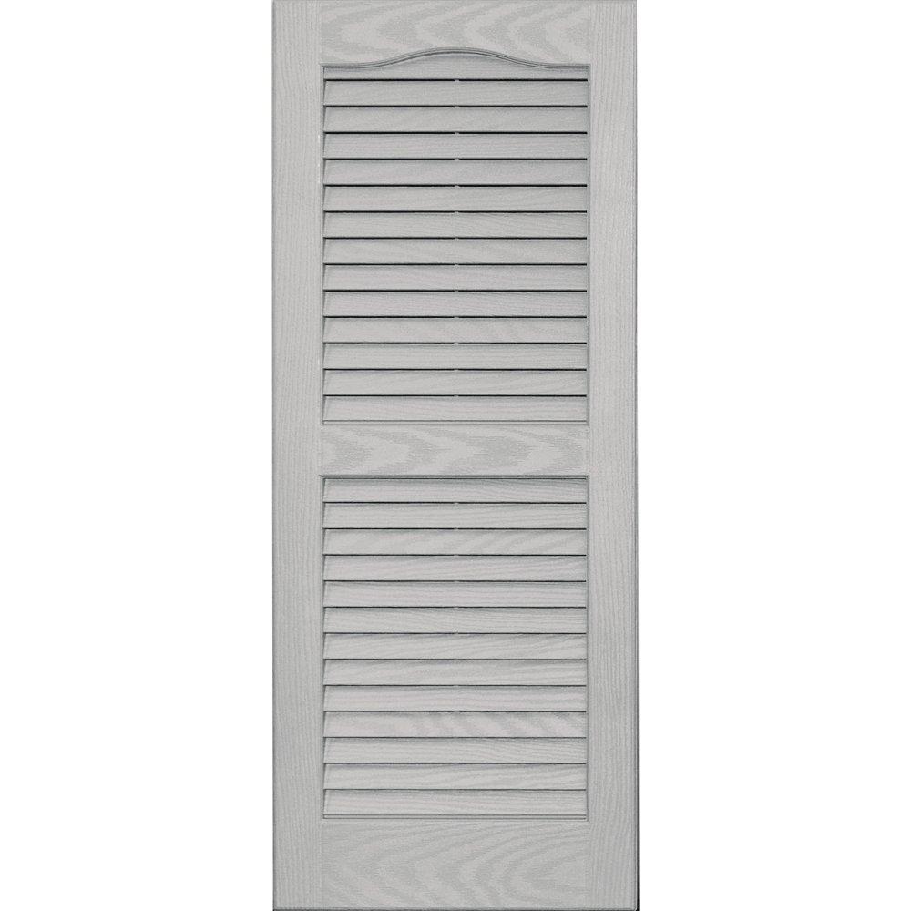 Vantage 0114035030 14X35 Louver Arch Shutter/Pair 030, Paintable