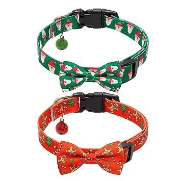 Amazon.com: PAWCHIE Collar de Navidad para perro con ...