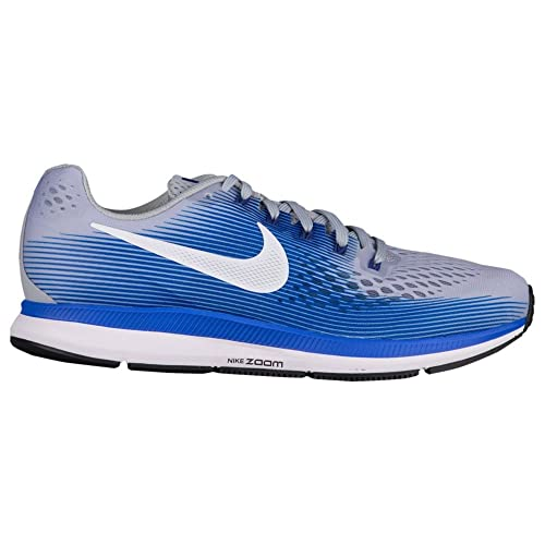92d9b6719 Nike Men s Air Zoom Pegasus 34 Running Shoe Wide (4E) Wolf Grey White Racer  Blue Size 13 Wide 4E  Buy Online at Low Prices in India - Amazon.in