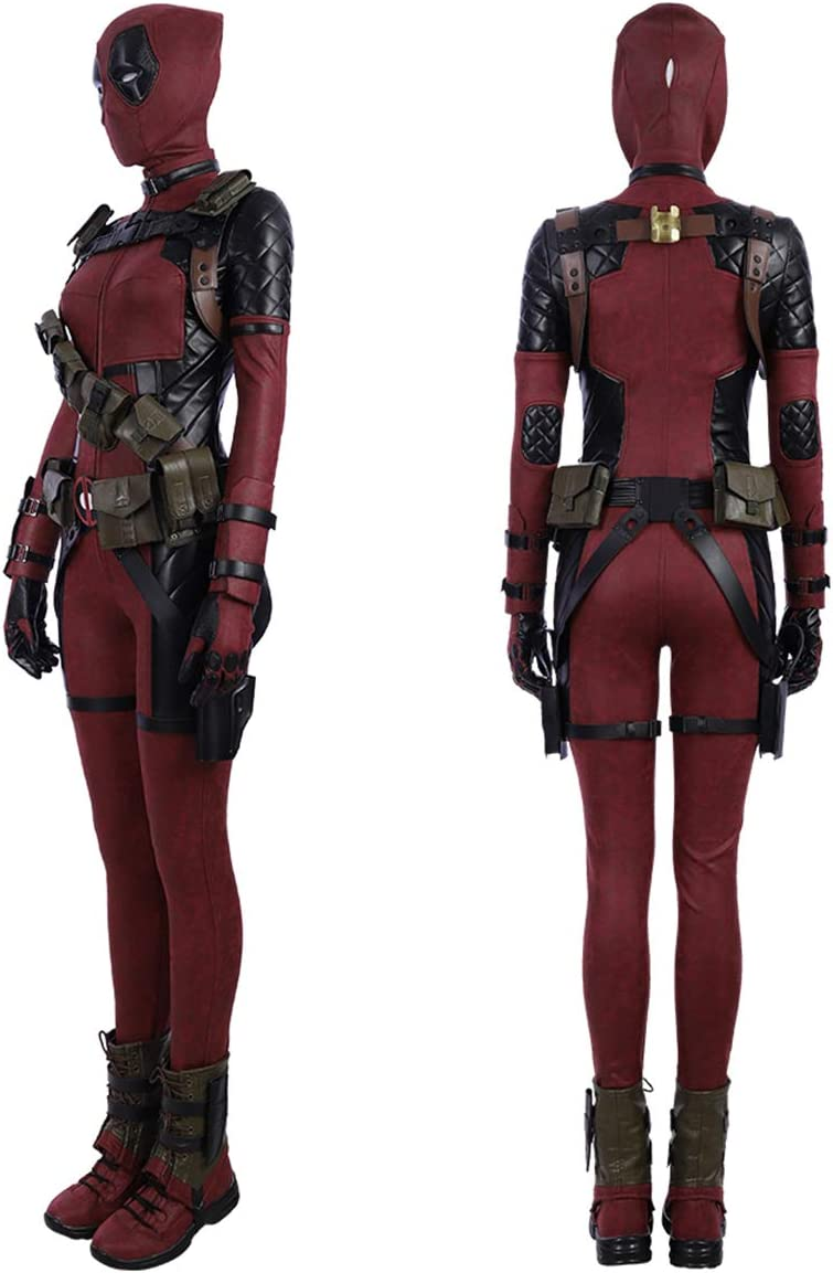 QWEASZER Marvel X-Men Lady Deadpool Disfraz Superhéroe Monos de ...
