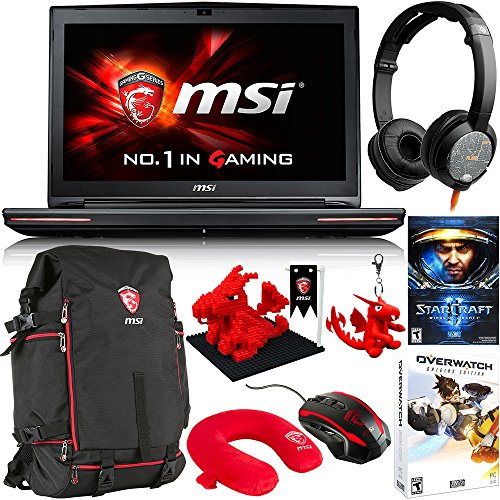 Price comparison product image MSI GT72S Dominator G-037 17.3-Inch Gaming Laptop with Gaming Bundle (Core i7-6820HK, GTX970M 3GB VRAM, 16GB RAM, 1TB HDD, 128GB SSD)