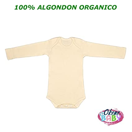 Body Bebe 100% Algodon Organico Manga Larga | Bodies para ...