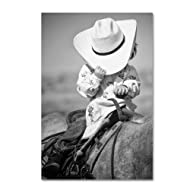Trademark Fine Art True Cowgirl by Dan Ballard, 30x47-Inch Canvas Wall Art