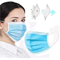 Angelnovo Face Masks Disposable 3 Layers Dustproof Mask Facial Protective Cover Mask Anti-Dust Surgical Medical Salon Earloop, 50pcs