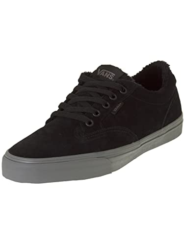 vans black trainers uk