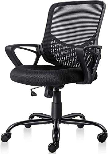 Ergonomic Office Desk Chair Adjustable Mesh Swivel Home Task Chairs
