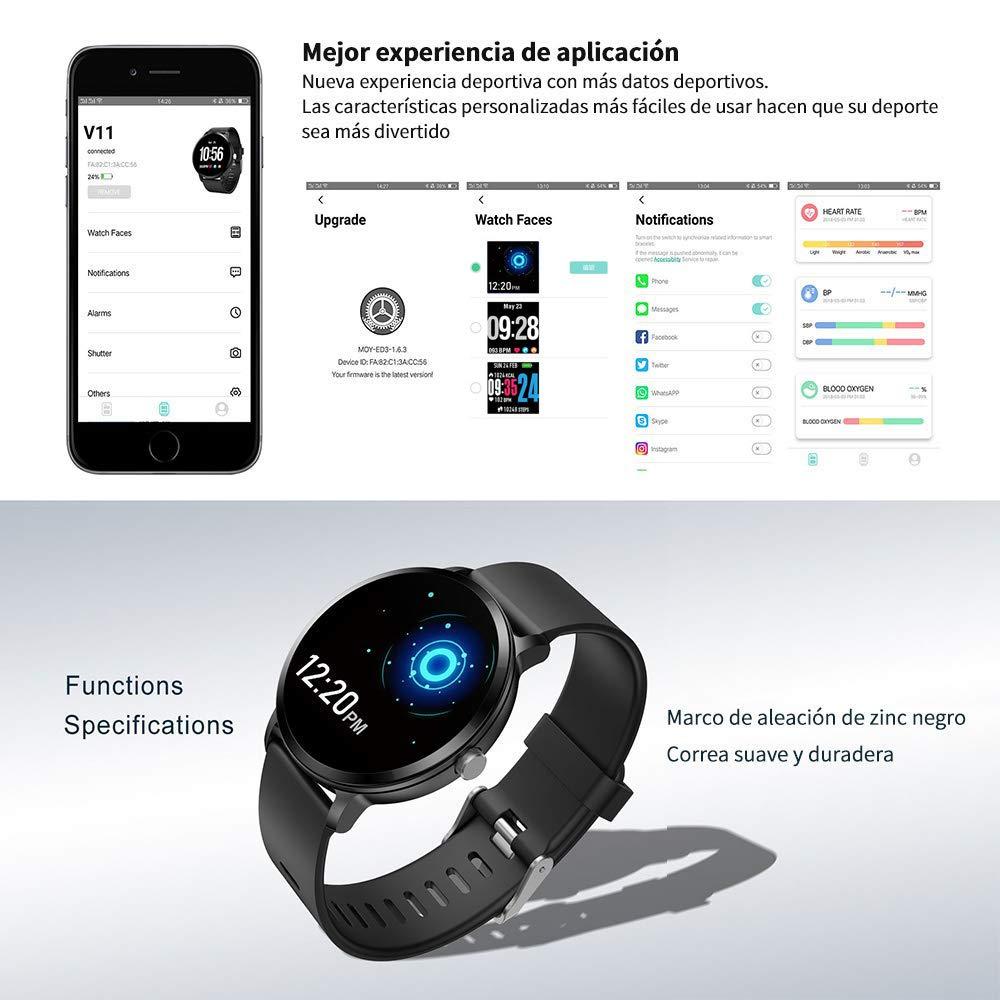SoloKing Multifunción Reloj Inteligente con Pulsómetros,Monitor de ...