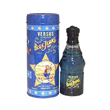 Amazon.com : Blue Jeans By Gianni Versace For Men, Eau De Toilette ...