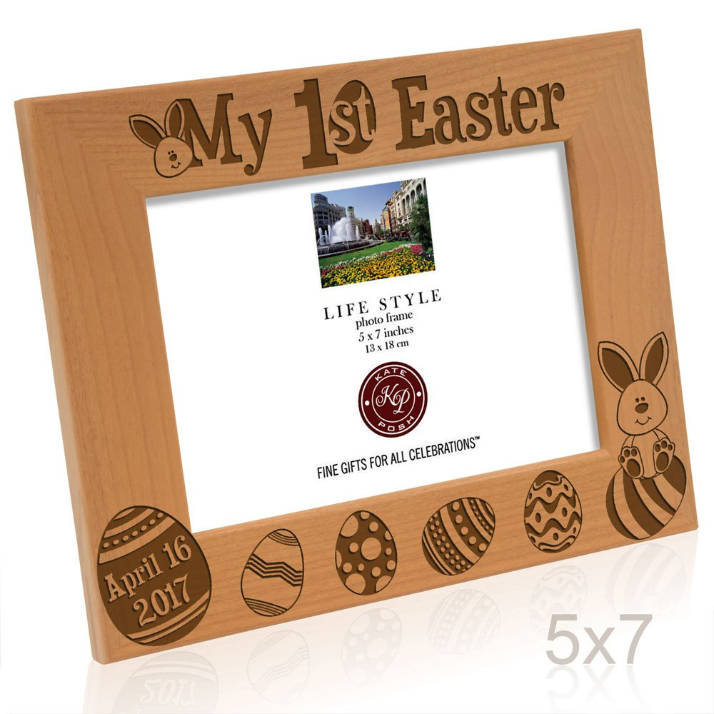 Amazon kate posh 2017 my first 1st easter picture frame amazon kate posh 2017 my first 1st easter picture frame engraved natural wood photo frame easter decorations baby easter gifts first easter negle Gallery