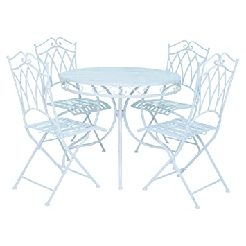 Bentley Garden - Salon de jardin avec table et 4 chaises - fer forgé ...